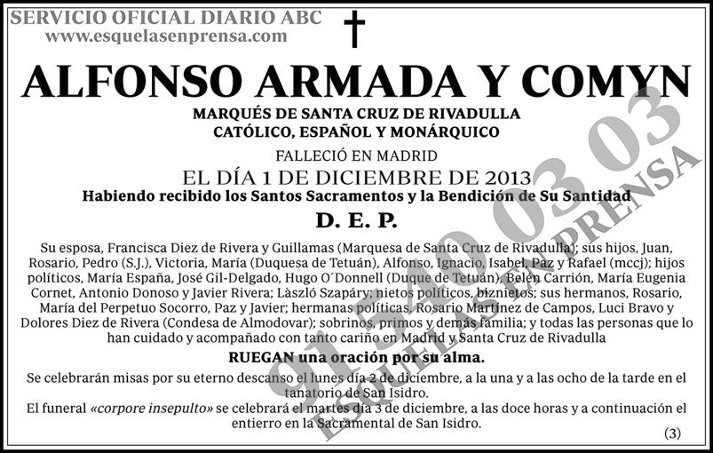 Alfonso Armada y Comyn
